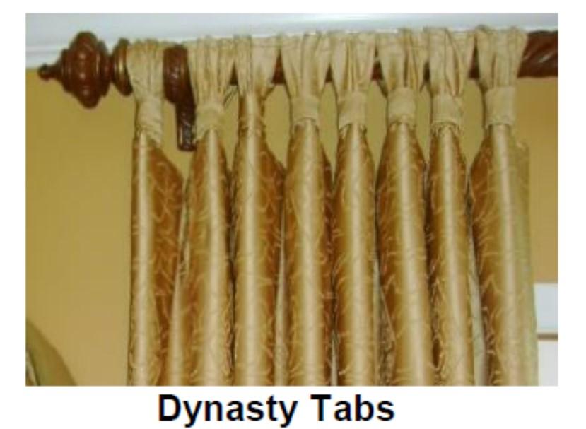 gold curtain on a rod