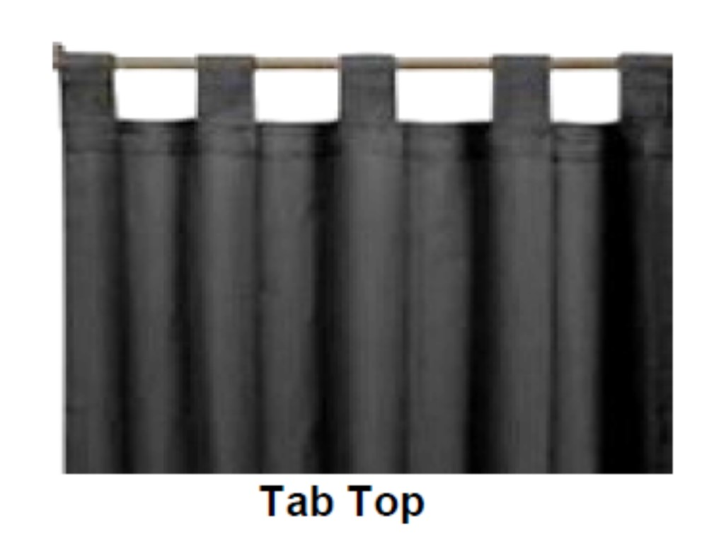 curtain on a rod with tab tops