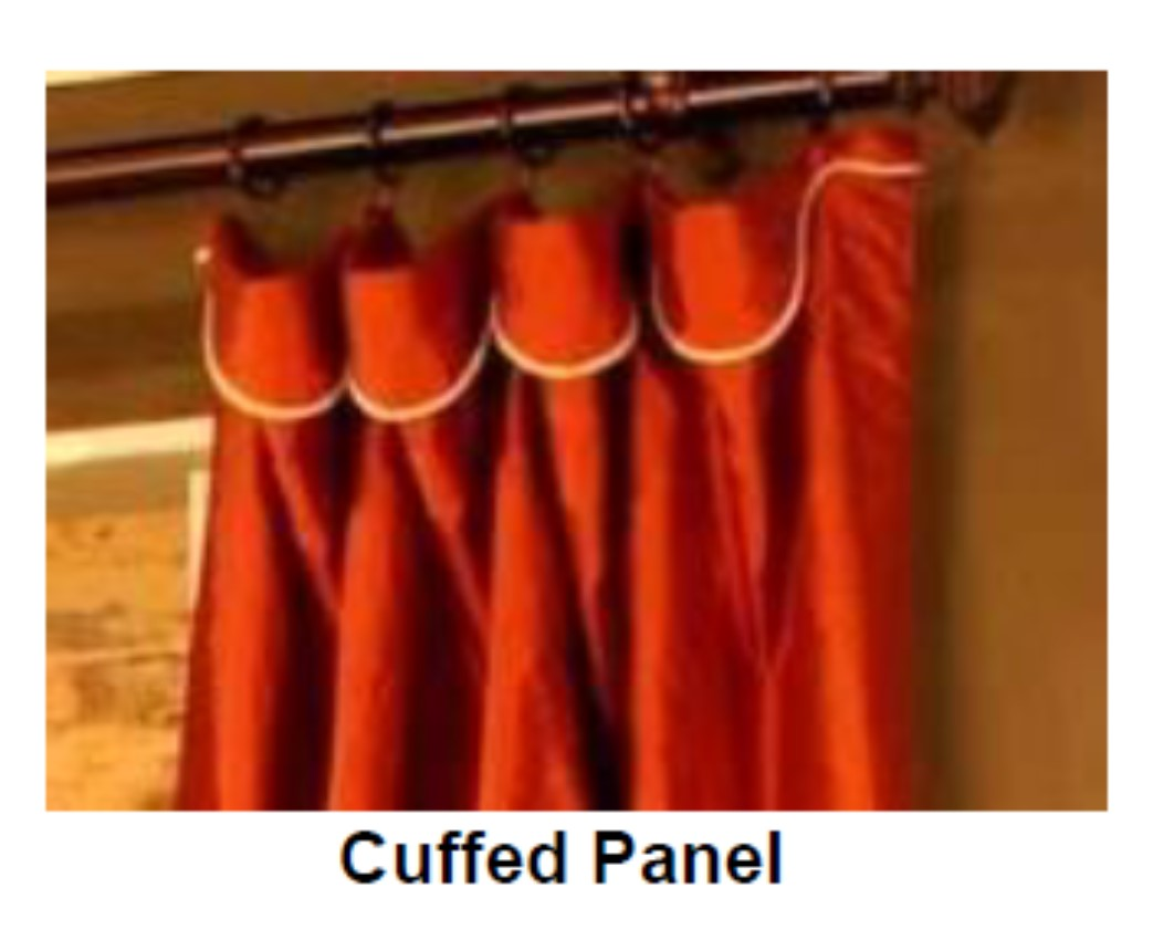 curtain on a rod with cuffed panel
