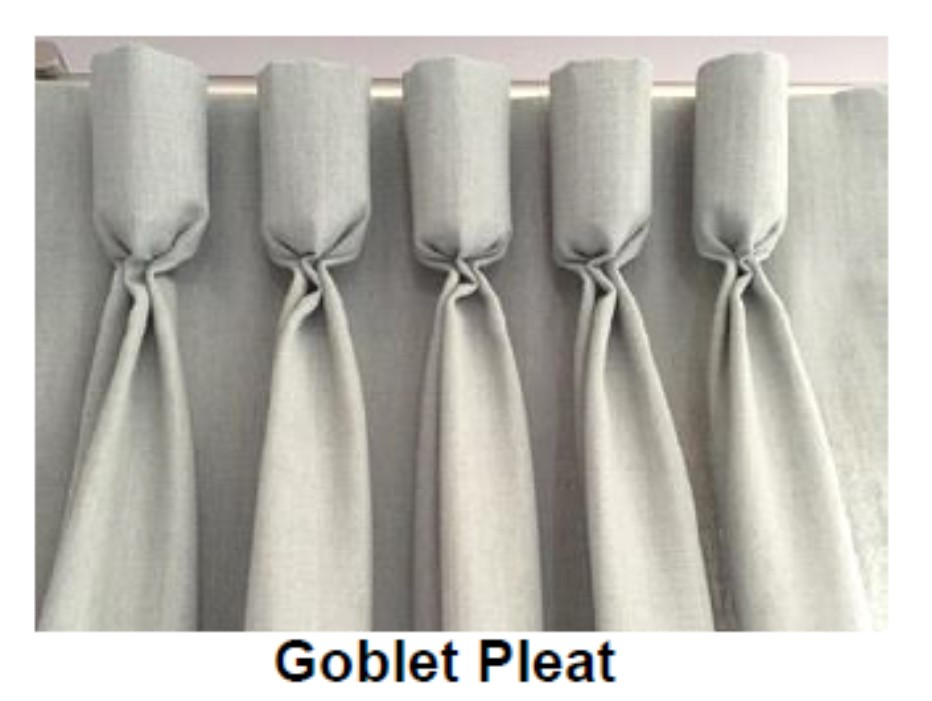 curtain on a rod with pleats