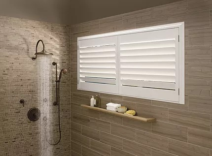 window blinds for shower window